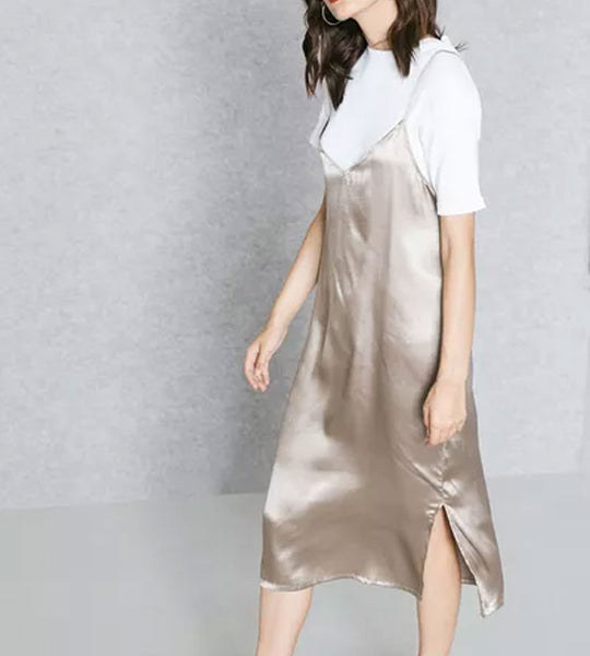 2 In 1 T-shirt With Satin Dress
