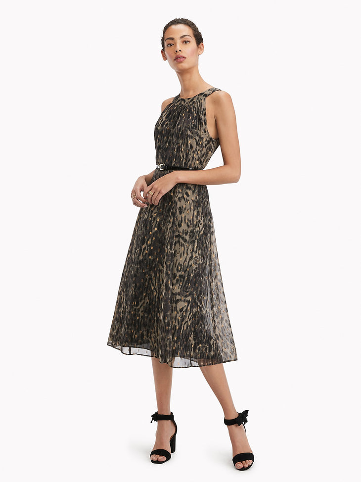 Tommy Hilfiger Essential Leopard Midi Dress