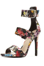 Load image into Gallery viewer, Anne Michelle Floral Ankle Strap Sandal