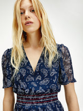 Load image into Gallery viewer, Tommy Jeans Paisley Chiffon Dress