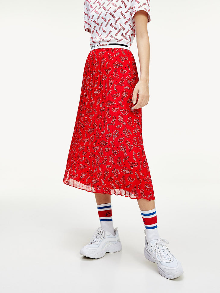 Tommy Jeans Pleated Midi Skirt