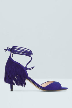 Mango Fringed Applique Sandal