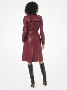 MICHAEL MICHAEL KORS Leather Trench Coat