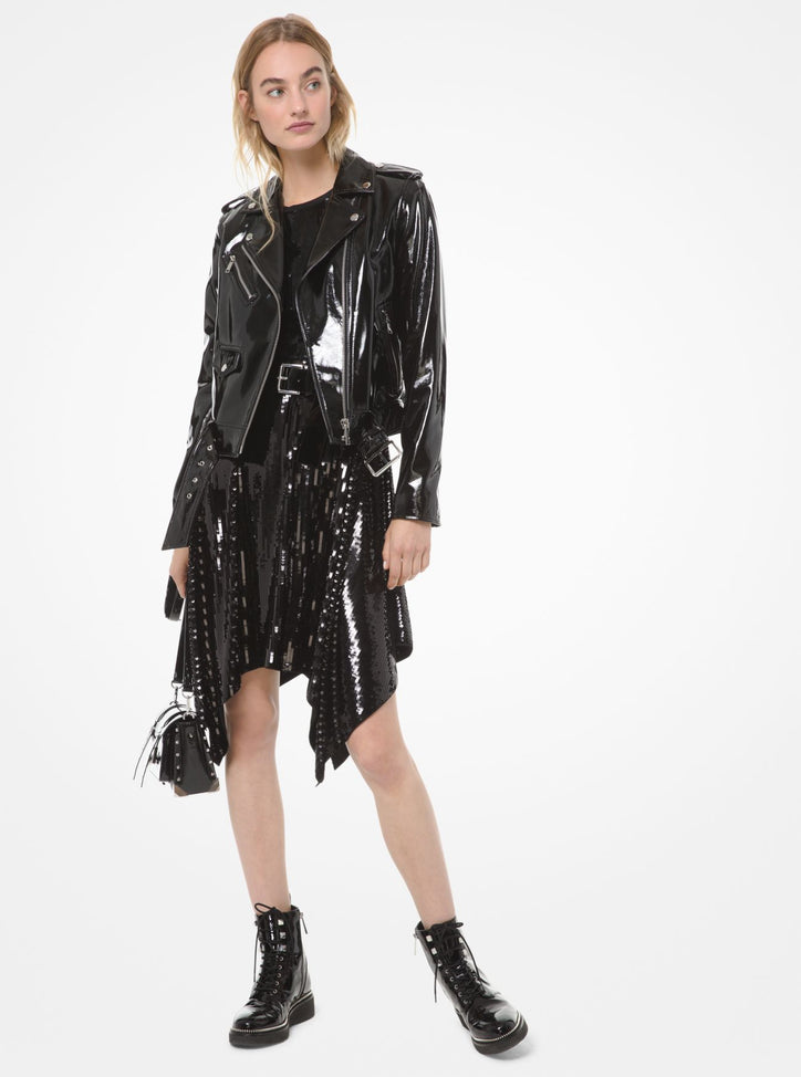 MICHAEL MICHAEL KORS Patent Leather Moto Jacket