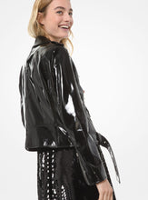 Load image into Gallery viewer, MICHAEL MICHAEL KORS Patent Leather Moto Jacket