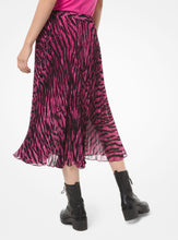 Load image into Gallery viewer, MICHAEL KORS Tiger-Print Georgette Pleated Skirt