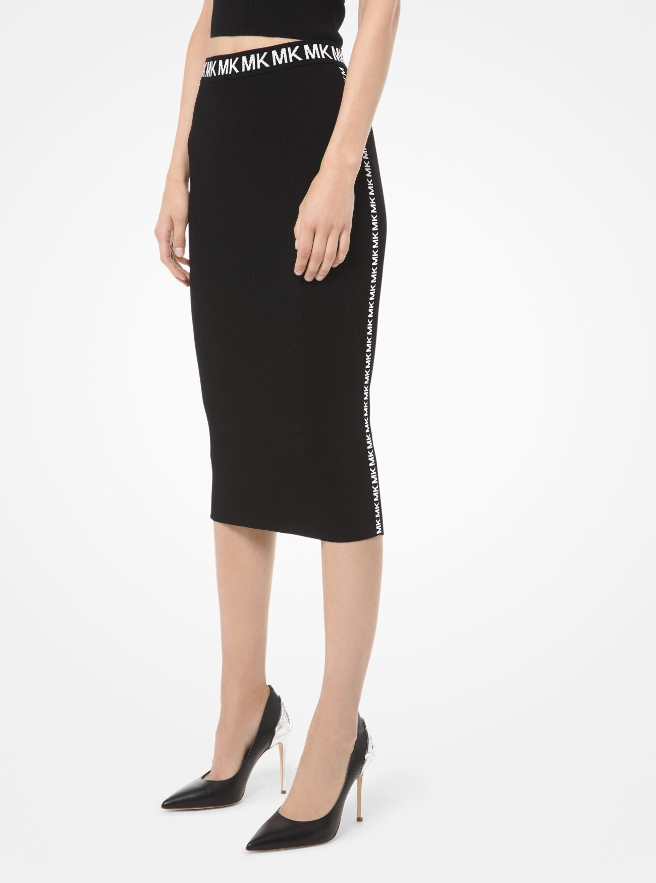 MICHAEL MICHAEL KORS Logo-Trim Stretch-Viscose Pencil Skirt