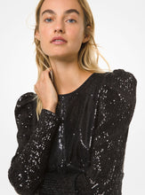 Load image into Gallery viewer, MICHAEL MICHAEL KORS Sequined Puff-Shoulder Dress