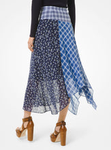 Load image into Gallery viewer, MICHAEL KORS Patchwork Georgette Handkerchief Skirt