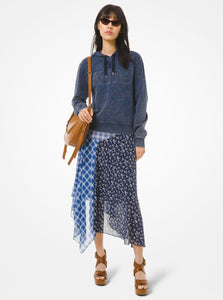 MICHAEL KORS Patchwork Georgette Handkerchief Skirt