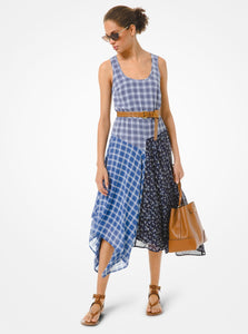 MICHAEL KORS Mixed Plaid Georgette Dress