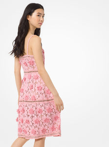 MICHAEL KORS Floral Appliqué Lace Dress