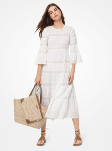MICHAEL KORS Corded Cotton and Sequined Lace Dress