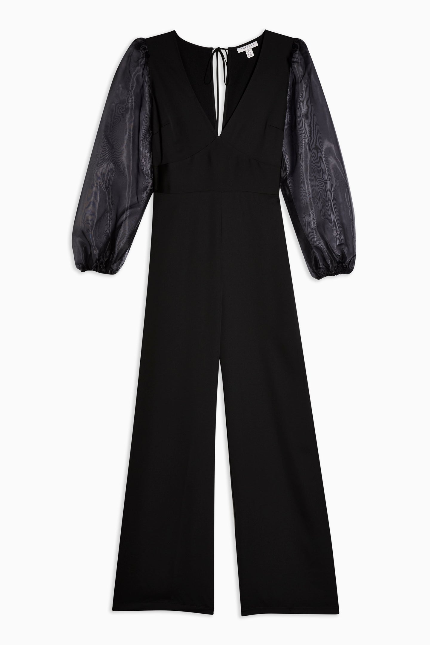 Top Shop Black Organza Jumpsuit
