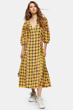 Load image into Gallery viewer, Top Shop Check Tie Wrap Midi Dress