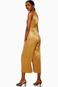 Top Shop Satin Twill Jumpsuit
