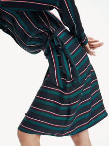 Tommy Hilfiger Stripe Wrap Shirt Dress