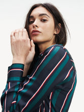 Load image into Gallery viewer, Tommy Hilfiger Stripe Wrap Shirt Dress