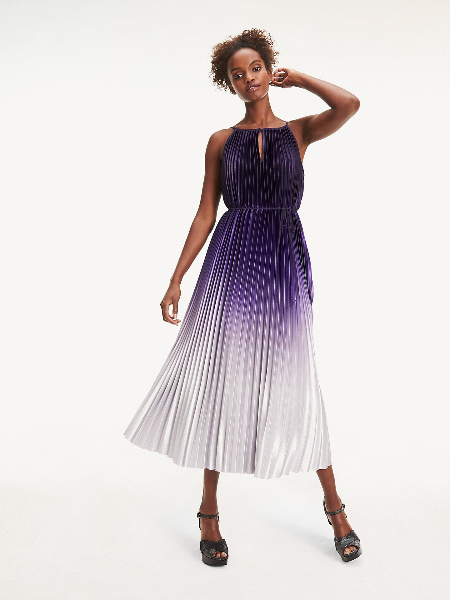Tommy Hilfiger Pleated Sleeveless Dress