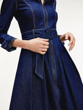 Load image into Gallery viewer, Tommy Hilfiger Belted Denim Shirt dress
