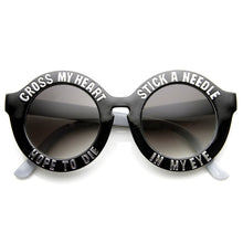 Load image into Gallery viewer, CROSS MY HEART HOPE TO DIE SWAG SUNGLASSES