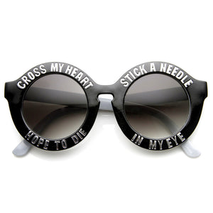 CROSS MY HEART HOPE TO DIE SWAG SUNGLASSES