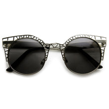 Load image into Gallery viewer, INDIE ROUND METAL LASER CUT MESH CAT EYE