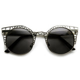 INDIE ROUND METAL LASER CUT MESH CAT EYE