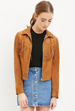 Load image into Gallery viewer, Fringe Suede Jacket