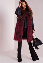 Load image into Gallery viewer, Faux Fur Longline Vest