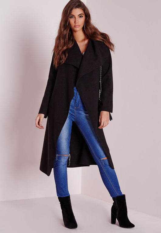 WRAP WOOL LONG COAT