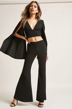 Slit-Back Flare Pants