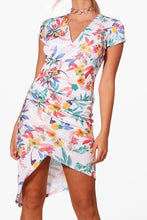 Load image into Gallery viewer, Tropical Midi Wrap Dress