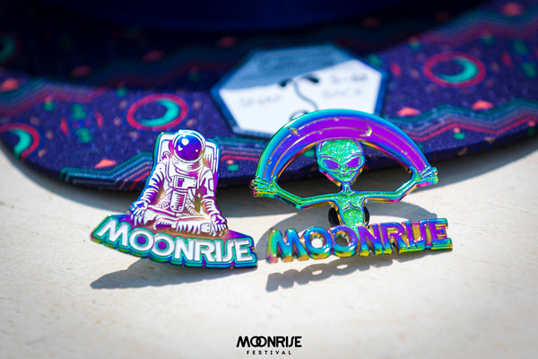 Rainbow Anodized 3D Astronaut Pin