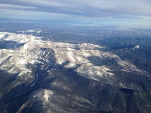 Colorado Rockies from 30,000 feet