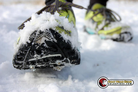 Sole Spikes by Goat Head Gear are perfect for winter running