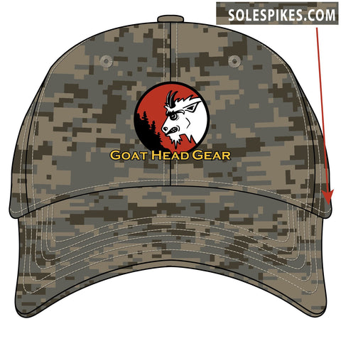 Goat Head Logo Digital Camo Hat (Sandy Gray) - Goat Head Gear