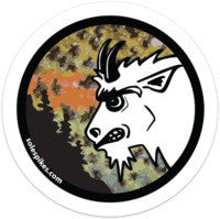 "Angry Goat Rainbow 2"" Sticker - Goat Head Gear"