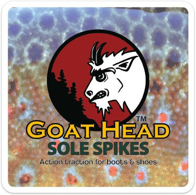 "Goat Head Gear Brown 4x4"" Sticker"