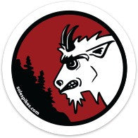 "Angry Goat Red 2"" Sticker - Goat Head Gear"