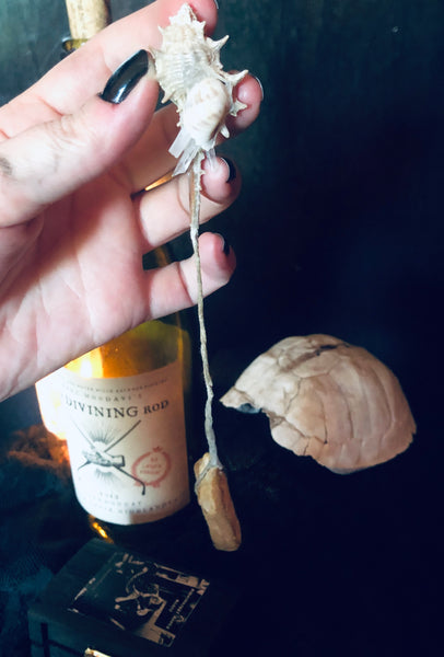 Shell and Quartz Hagstone Pendulum