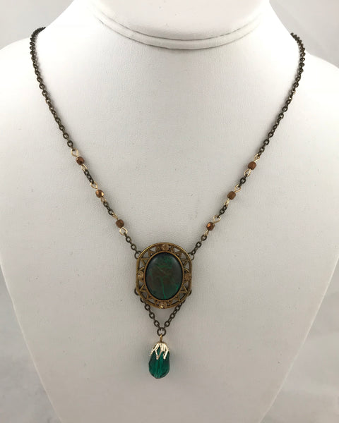 Regal Green (Necklace & Earring Set)