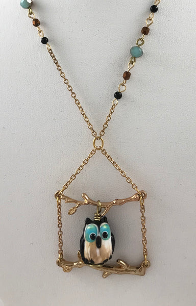 Friendly Owl (Necklace & Earring Set)
