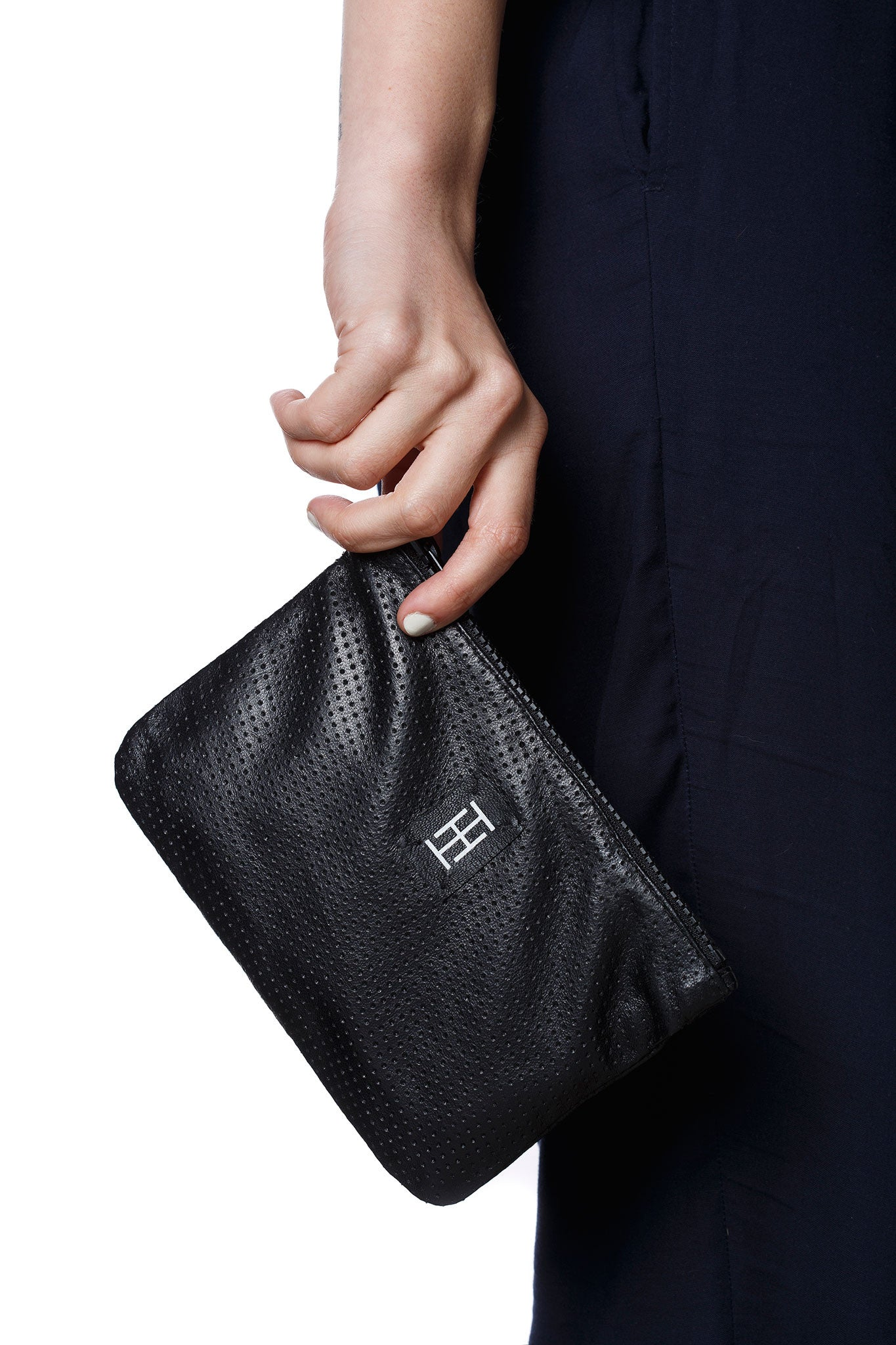 The Pouch - black leather bag