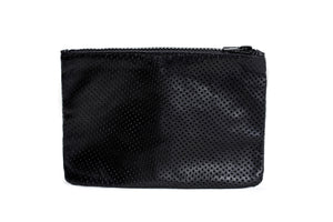 The Pouch- black leather bag