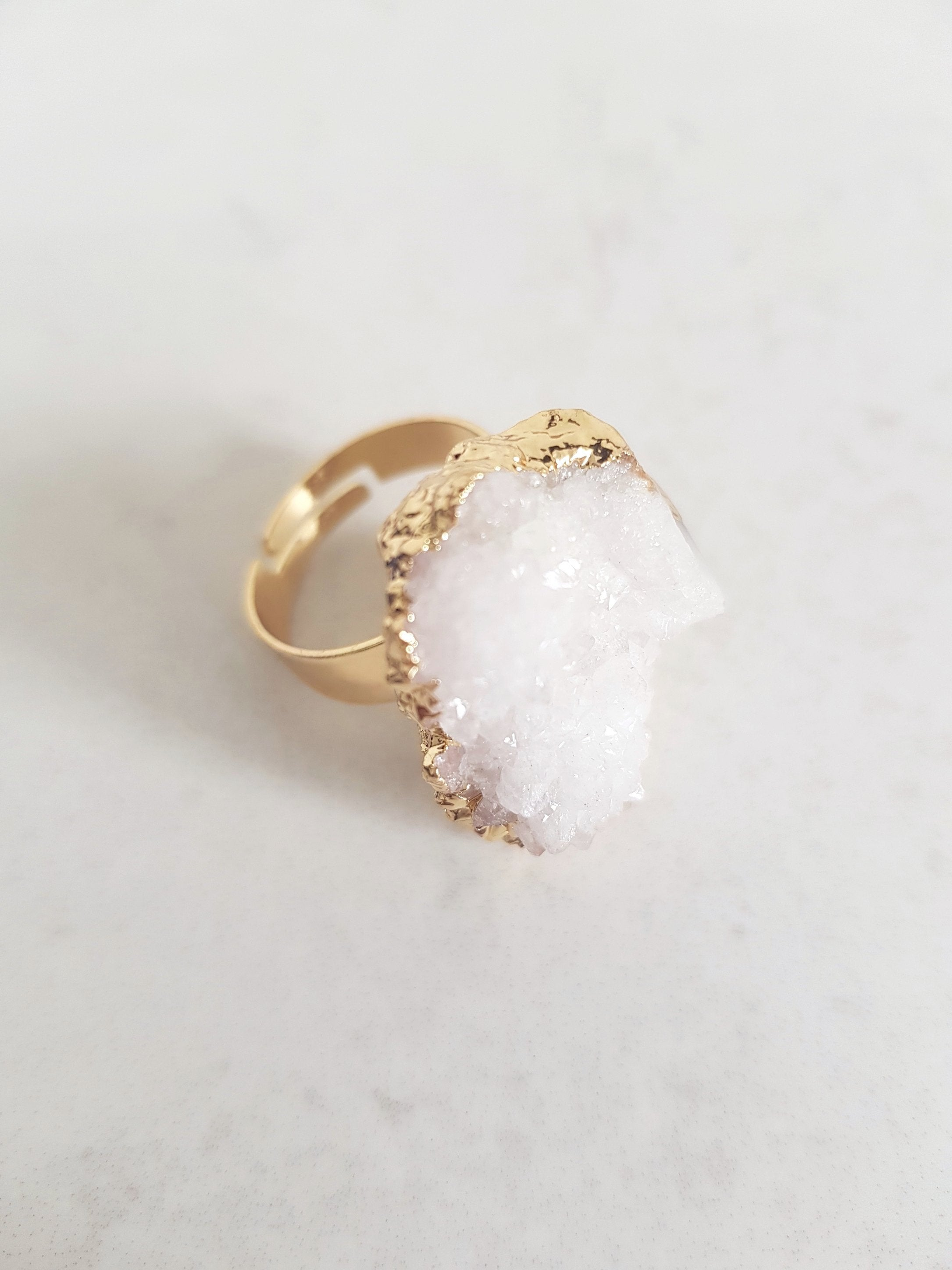 AURORA CLEAR QUARTZ RING