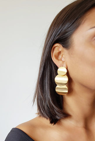 JESSICA GOLD CIRCLE EARRINGS