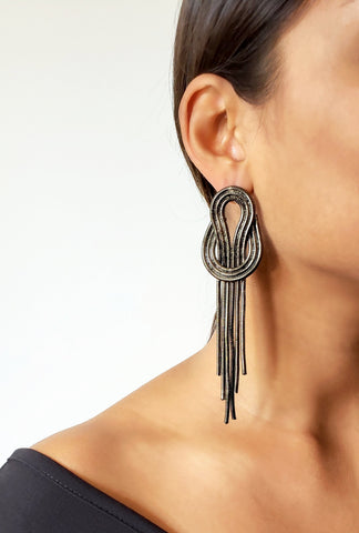 HAILEY SILVER DROP EARRINGS