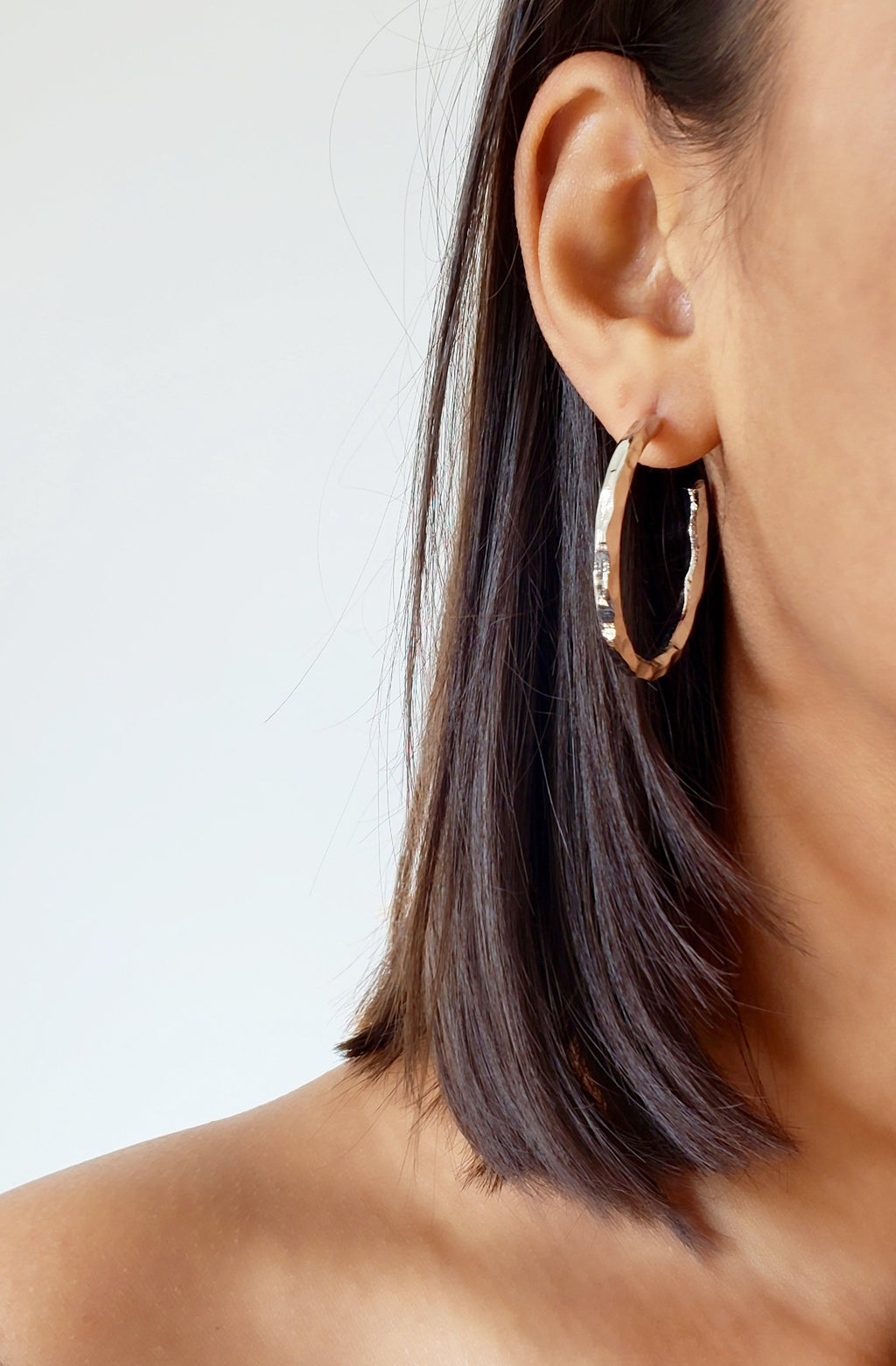 STEPH SILVER HOOP EARRINGS