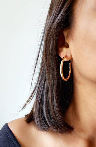 STEPH GOLD HOOP EARRINGS